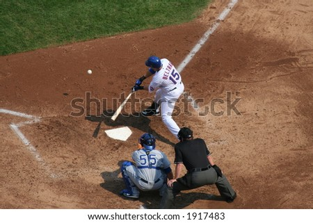 Carlos Beltran getting a hit - stock photo