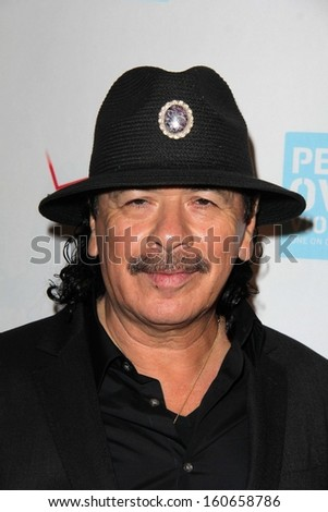 Carlos Santana at the Peace Over Violence 42nd Annual Humanitarian Awards, Beverly Hills Hotel, Beverly Hills, CA 10-25-13 - stock photo