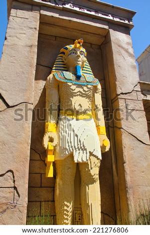 CARLSBAD, California USA- APRIL 2014: Legoland California Pharaoh - stock photo