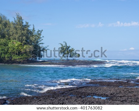 Carlsmith beach park is one of best places to swim and snorkel close to Hilo. Lava and a reef protect the inner swimming area, making it almost like a swimming pool.