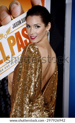 Carly Craig at the Los Angeles premiere of 'Hall Pass' held at the ArcLight Cinemas in Hollywood on February 23, 2011.  - stock photo