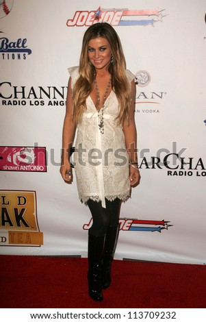 Carmen Electra at the Gridlock New Years Eve 2007 Party, Paramount Studios, Los Angeles, CA 12-31-06 - stock photo