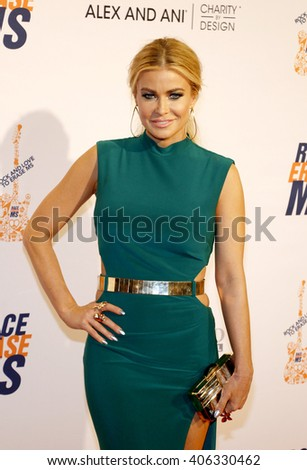 Carmen Electra at the 23rd Annual Race To Erase MS Gala held at the Beverly Hilton Hotel in Beverly Hills, USA on April 15, 2016. - stock photo