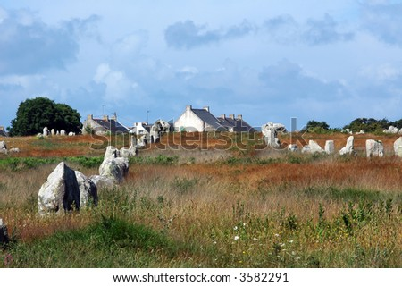 Carnac (Brittany, France). Alignments of menhirs.