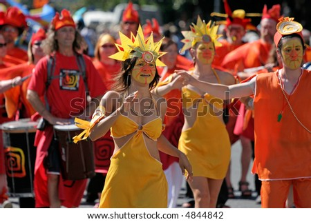 Carnival Dancers - stock photo