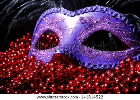 Carnival mask isolated on a black background