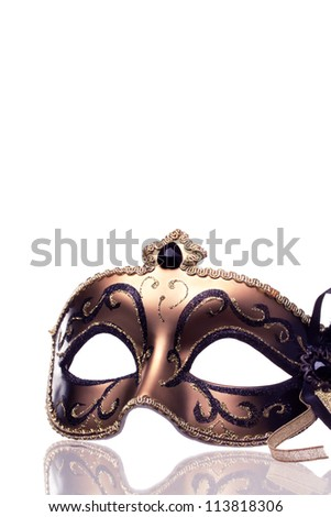 Carnival mask isolated on a white - stock photo