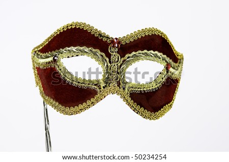 Carnival mask isolated on a white background - stock photo