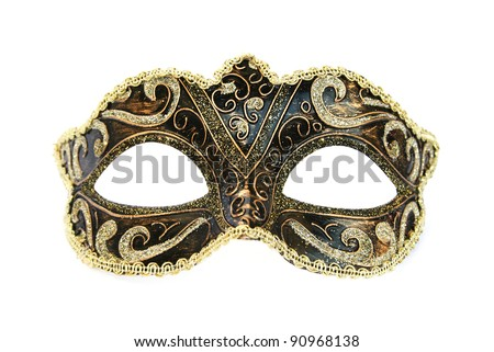 Carnival mask isolated on white background. - stock photo