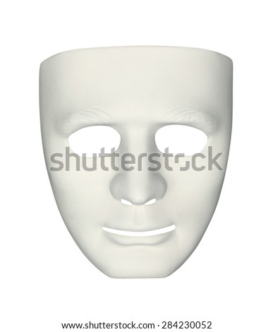 Carnival mask (with clipping path) isolated on white background - stock photo