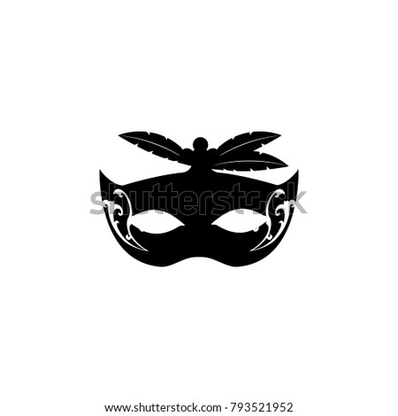 Carnival mask with feathers icon. Carnival element icon. Premium quality graphic design icon. Baby Signs, outline symbols collection icon for websites, web design, mobile on white background