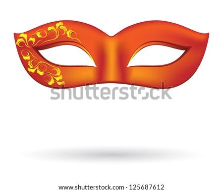 Carnival masks in red - stock photo