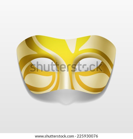 Carnival Masquerade Party Mask Isolated on White Background