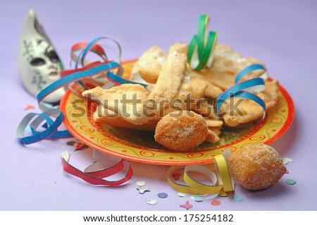 Carnival pastry - stock photo