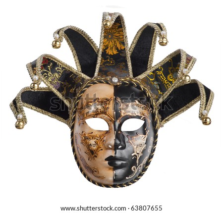 carnival venetian mask - stock photo