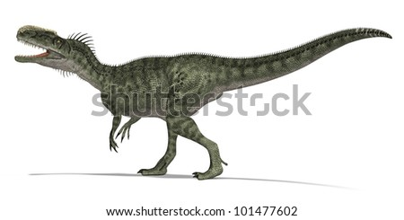 Carnivorous Dinosaur calling - stock photo