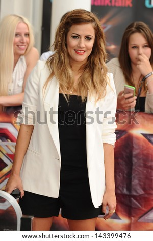 "Caroline Flack arriving for the new series of ""X Factor"" at EXCEL, Docklands, London. 19/06/2013"