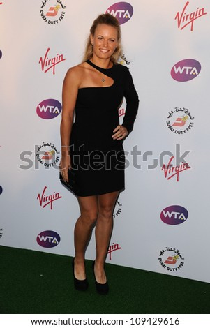 Caroline Wozniacki arriving for the 2012 WTA Pre-Wimbledon Party at the Roof Gardens in Kensington, London. 21/06/2012 Picture by: Steve Vas / Featureflash - stock photo