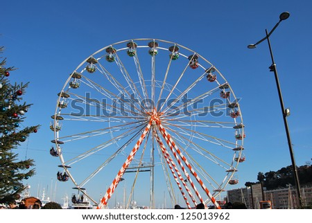 carousel and blue sky