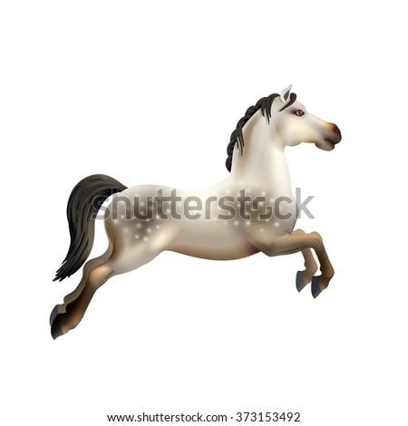 Carousel Horse Isolated - stock photo