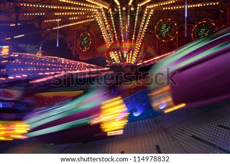 carousel in motion - stock photo