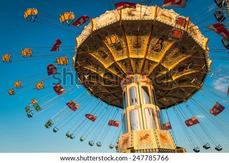 Carousel spinning - stock photo