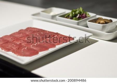 Carpaccio ingredients - stock photo