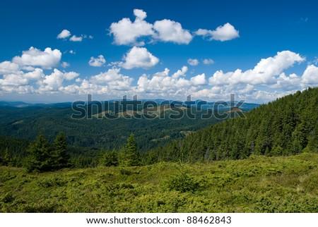 Carpathian Mountains - stock photo