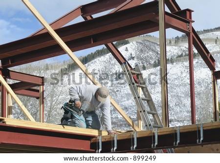 carpenter - stock photo