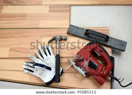 Carpenter's equipment - stock photo