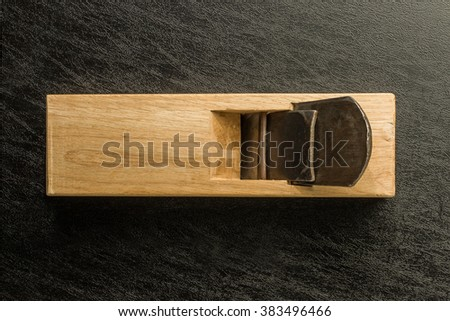 carpenter tool that a Japanese nostalgic cutting blade of a plane - stock photo