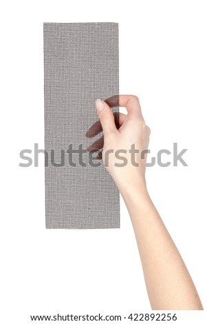 carpentry file in a hand isolated on white background. carpenter tool - stock photo