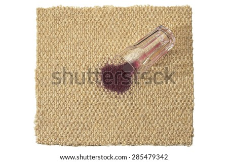 Carpet with Spilled Juice - stock photo