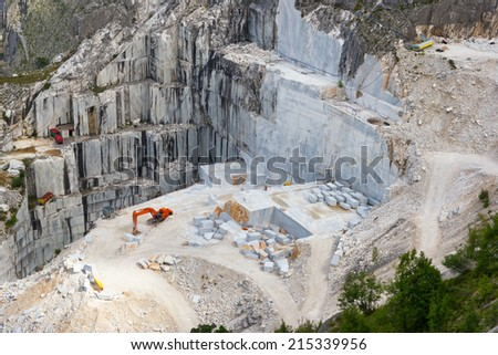 Carrara marble quarry, Tuscany, Italy - stock photo