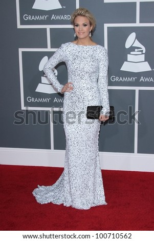 Carrie Underwood at the 54th Annual Grammy Awards, Staples Center, Los Angeles, CA 02-12-12