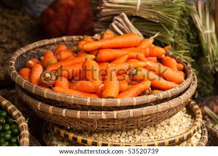 carrot basket - stock photo
