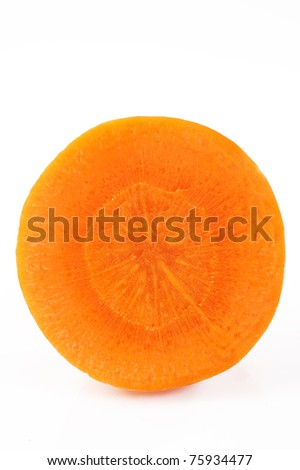 carrot core on white background - stock photo