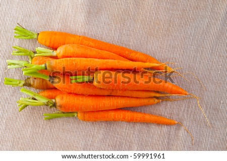 Carrot fresh vegetable group - stock photo