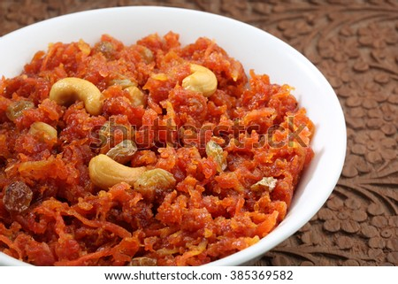 Carrot Halwa / Carrot Pudding - Diwali sweets,festival sweets
