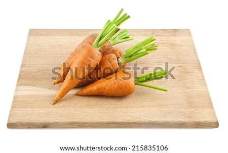 carrot on a white background - stock photo