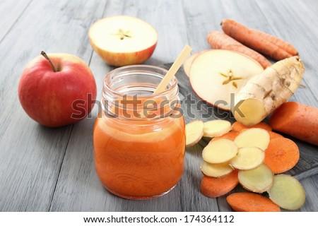 carrot smoothie  - stock photo
