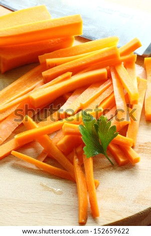 how to cut carrot stick