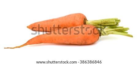 Carrots isolated on white background - stock photo