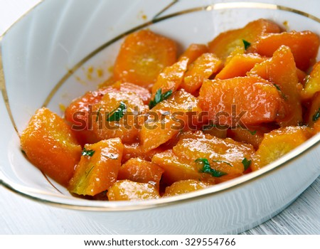Carrots Vichy - Stewed carrots  with cream and parsley