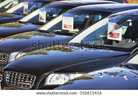 Cars for sale - stock photo