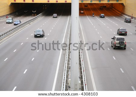 cars on the street - stock photo