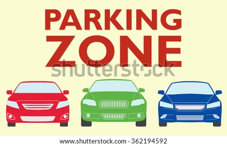 Cars parking icon. Parking zone design.