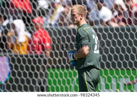 CARSON, CA. - July 24: Manchester City FC G Joe Hart #25 during the World Football Challenge game on July 24 2011 at the Home Depot Center in carson, Ca.