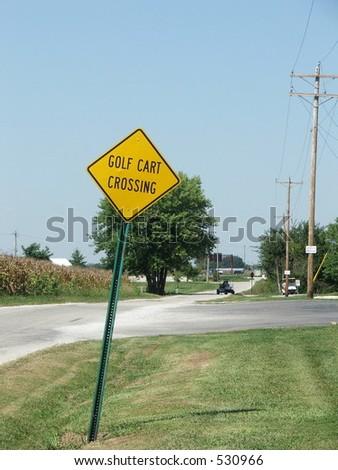 cart crossing - stock photo