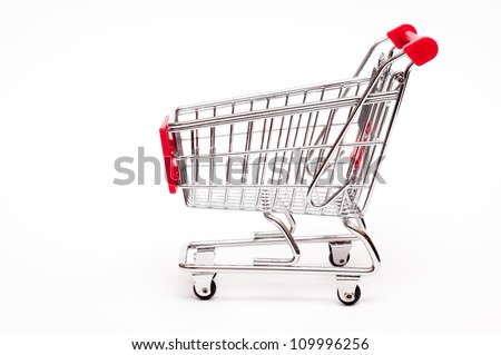 Cart from the side on a white background